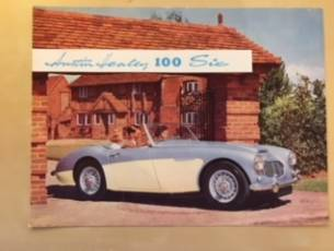 Austin Healey 100 Six Brochure c1957