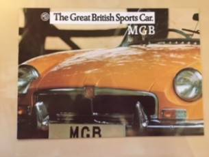 Brochure for MGB Roadster 1972-1974 (Dutch Text)