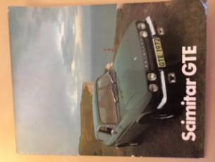 Scimitar GTE Brochure for Series SE5A c1972
