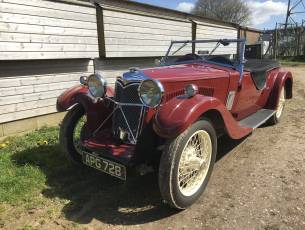 1933 Riley 9 Lynx 'disappearing hood' model