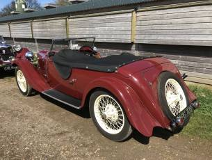 1933 Riley 9 Lynx  - Disappearing Hood Model