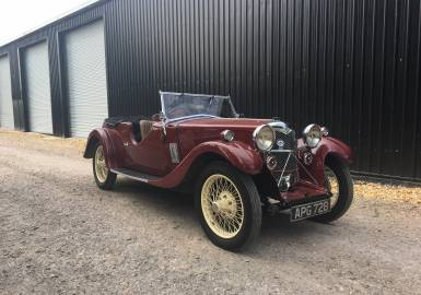 1933 Riley Nine Lynx – (disappearing hood model)