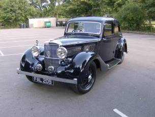 1939 Alvis 12/70 with 4 light sports saloon
