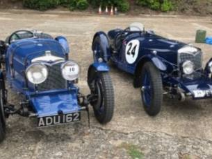 Rare to see such historic cars together - Riley TT Sprite (AVC 19) and Riley Ulster Imp