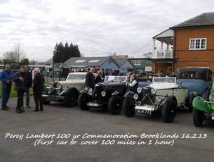 Percy Lambert 100 yr commemoration at Brooklands